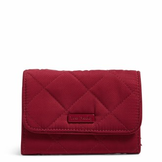 Iconic RFID Riley Compact Wallet Berry Red