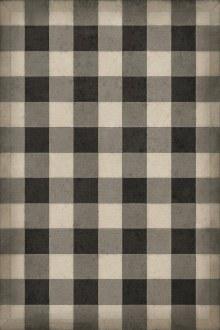 Gingham Canvas Black 20x30