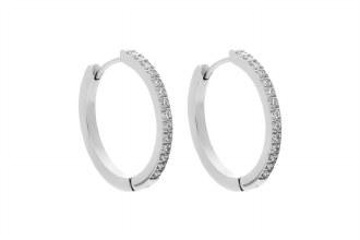 Creole Hoop Earrings Silver