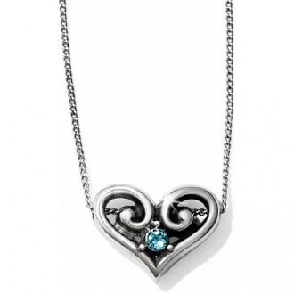 Alcazar Heart Aqua Necklace
