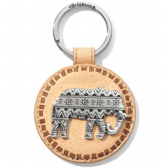 Africa Ellie Leather Key Fob