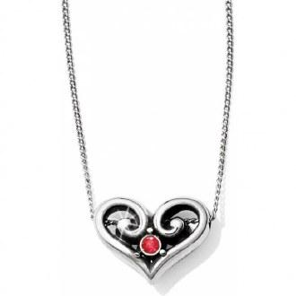 Alcazar Heart Ruby Necklace