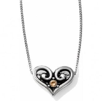 Alcazar Heart Topaz Necklace