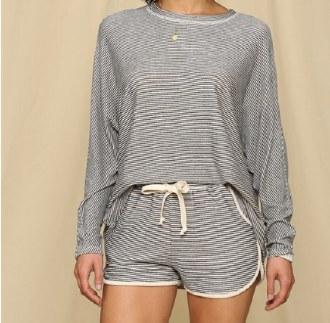 Hacci Striped Lounge Shorts Sm
