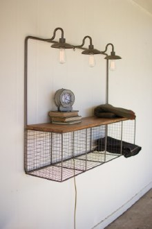 Wire Cubby with 3 Lights