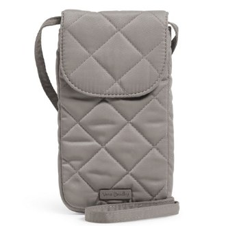 Carson RFID Deluxe Cellphone Crossbody Tranquil Gray