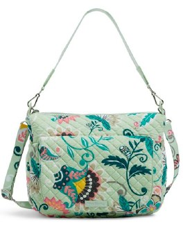 Carson Shoulder Bag Mint Flowers