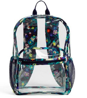 Clearly Colorful Large Backpack Moonlight Garden