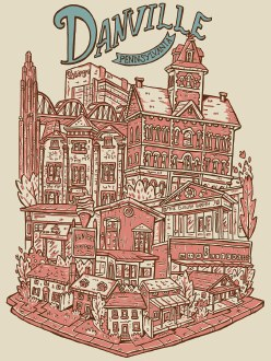 Danville Neighborhood 12x16 Print