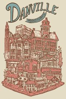 Danville Neighborhood 4x6 Print