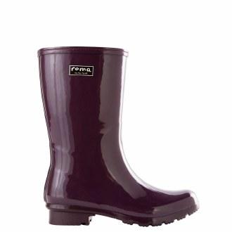 Emma Mid Calf Eggplant Rain Boots
