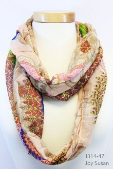 Blush Feather Infinity Scarf