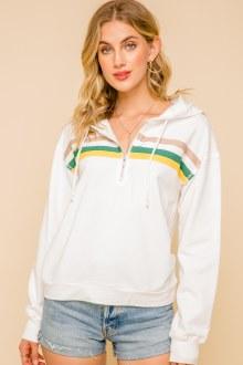 Rainbow Hoodie Pullover Small
