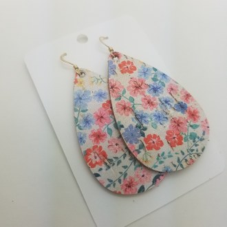 Floral Drop Earring Small