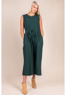 Sleeveless Culotte Jumpsuit Small