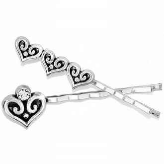 Alcazar Heart Bobby Pin Set