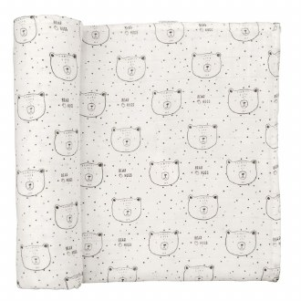 Muslin Bear Hugs Swaddle