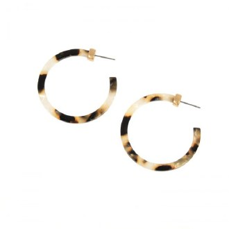 Brown Natural Medium Resin Hoops