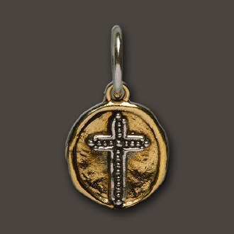 Brass Camp Cross Charm