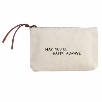 Canvas Pouch: May You Be Happy Always
