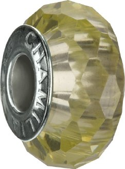 Light Green Jeweled Collection Bead