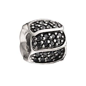 Jeweled Black Petals Bead