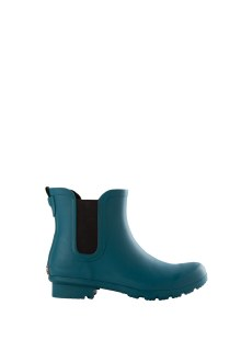 Chelsea Matte Teal Ankle Boots