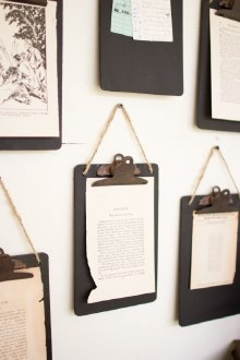 Black Clip Board Photo Notes