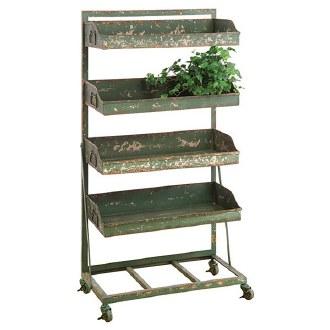 Distressed Green Finish Shelf