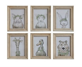 Animal Wood Wall Frame Art