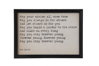 Bob Dylan Framed Quote