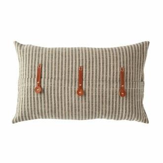 Pillow w/ Leather Trim