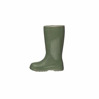 Boot Vase Green