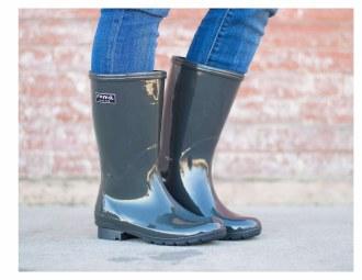 Emma Mid Calf Gray Rain Boots