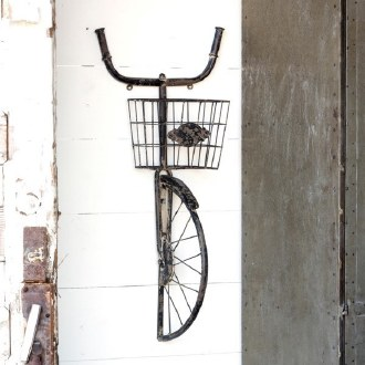 Bike and Basket Wall Shelf