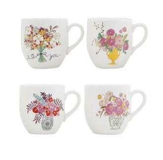 Flower Stoneware Mug