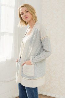 French Terry Open Cardigan Small