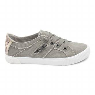 Grey Canvas Sneakers 11