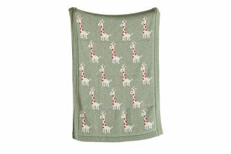 Giraffe Cotton Knit Blanket