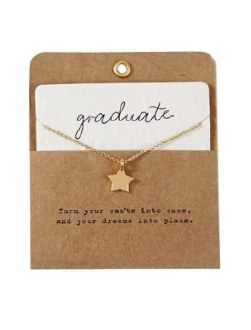 Charm Necklace Graduation Star