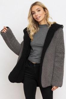 Black/Grey Reversible Coat Medium