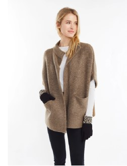 Henry Neck Collared Cocoon Cardigan