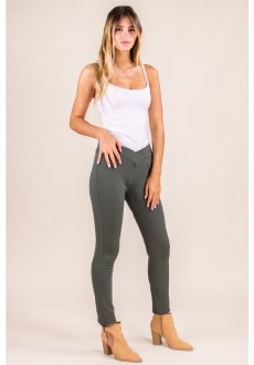 High Waisted Jeggings S Olive