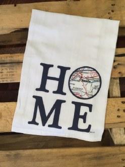 Danville Map Home Towel