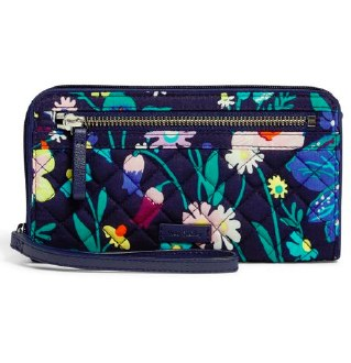 Iconic RFID Front Zip Wristlet Moonlight Garden