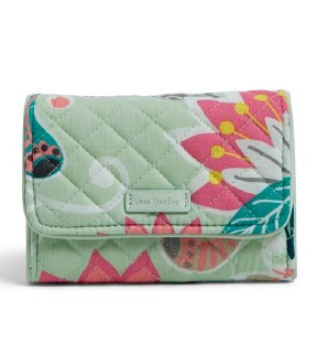 Icoinc RFID Riley Compact Wallet Mint Flowers