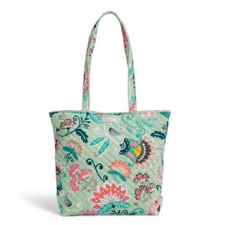 Iconic Tote Bag Mint Flowers