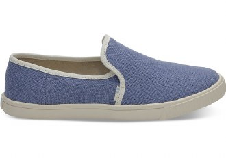 Infinity Blue Canvas Slip Ons