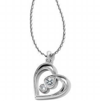 Inifinity Sparkle Petite Heart Necklace