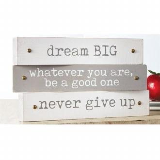 Inspirational Plaque: Dream Big
